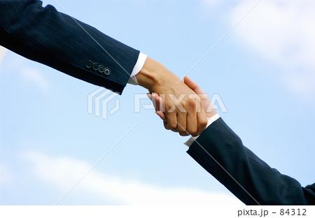 握手 84312  握手  サムネイル表示に戻す 画質を確認 握手の写真素材 [84312]