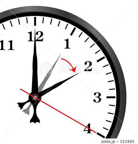 323883 時計 夏時間 トケイのイラスト 画質確認    時計 夏時間 トケイのイラスト素材
