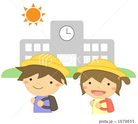 登校する小学生 1079655  登校する小学生 画質確認    登校する小学生のイラスト素材