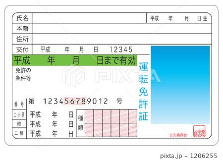 運転免許証 緑色 1206255 運転免許証 緑色のイラスト素材 [1206255] - PIX