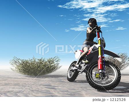 オフロードガール02 1212526   オフロードバイクのイラスト素材