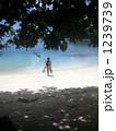 砂浜を歩くダイバー