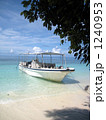 南の島と海とボート