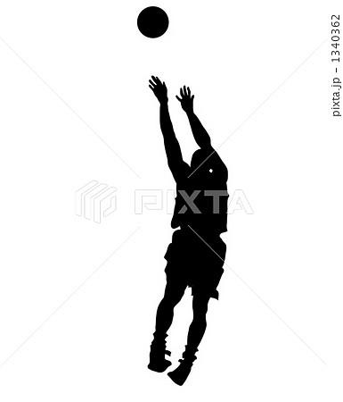 イラスト素材: バスケ バスケットボール シルエットのイラスト