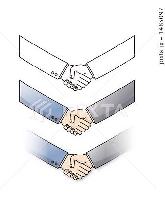 握手 1485097  握手  サムネイル表示に戻す 画質を確認 握手のイラスト素材 [1485