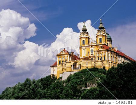 世界遺産ヴァッハウ渓谷のメルク修道院 1493581  世界遺産ヴァッハウ渓谷のメルク修道院 画