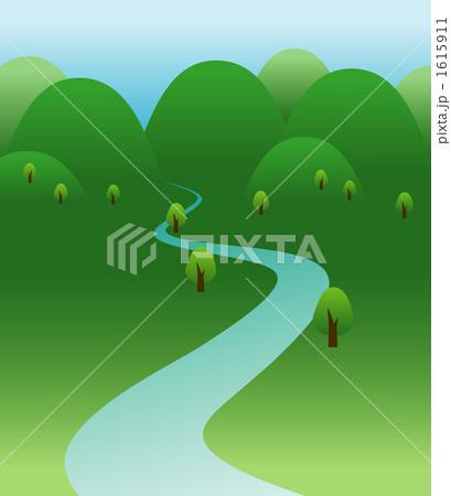 イラスト素材:田舎の川 : 世界 山脈 一覧 : すべての講義