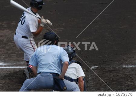 高校野球バッターボックス 1675570  高校野球バッターボックス 画質確認   高校野球バッ
