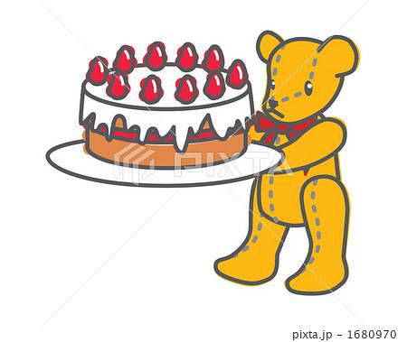 ケーキを運ぶくまさん 1680970  ケーキを運ぶくまさん 画質確認   ケーキを運ぶくまさん