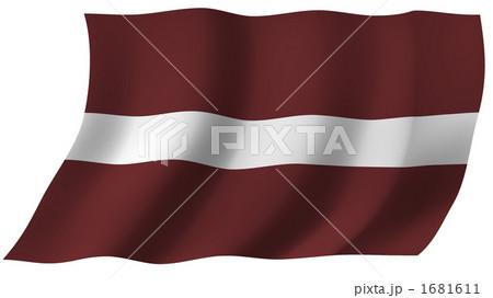 イラスト素材: ラトビアの国旗