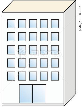 ビル 1833646  ビル 画質確認    ビルのイラスト素材 [1833646]