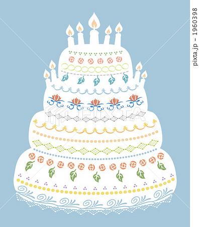 ウエディングケーキ ウエディングケーキ イラスト  イラスト素材:ケーキの .