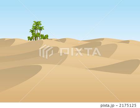 插图: 沙漠 椰子树 星野