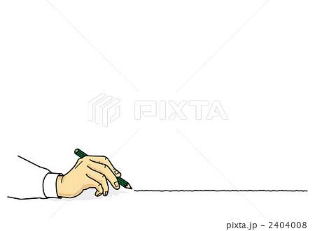 手 描く 書くのイラスト 画質確認   手 描く 書くのイラスト素材 [2404008]