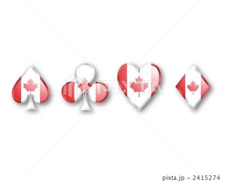 イラスト素材:カナダ国旗
