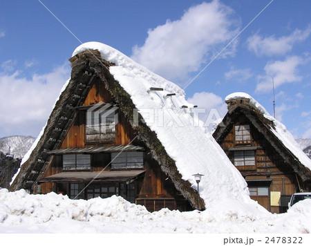 照片: 白川乡 人字形木屋顶 茅草屋顶图片