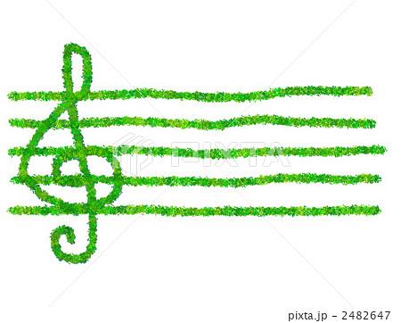イラスト素材:植物の楽譜 : 社会の記号 : すべての講義