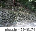 こんぴらさんの石垣の写真素材