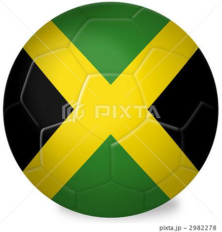 サッカーボール_国旗_ジャマイカ 2982278  サッカーボール_国旗_ジャマイカ 画質確認