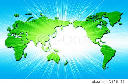 輝く世界地図のイラスト素材 ...