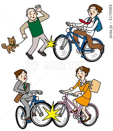 自転車の 自転車 素材 イラスト フリー : イラスト素材:自転車運転の ...