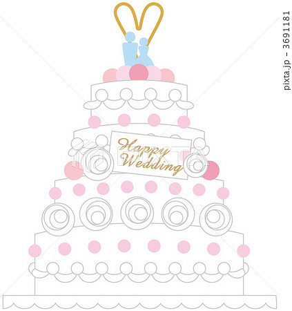 ウエディングケーキ ウエディングケーキ イラスト  ウエディングケーキ 3691181