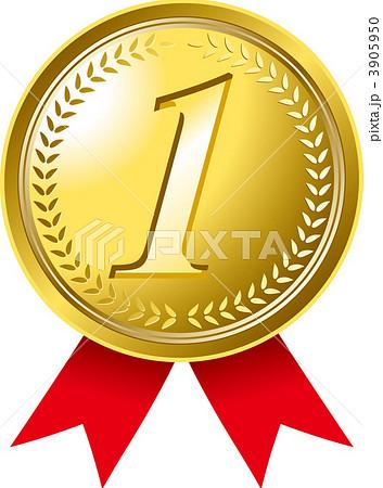 イラスト素材: メダル 1位 金メダルのイラスト