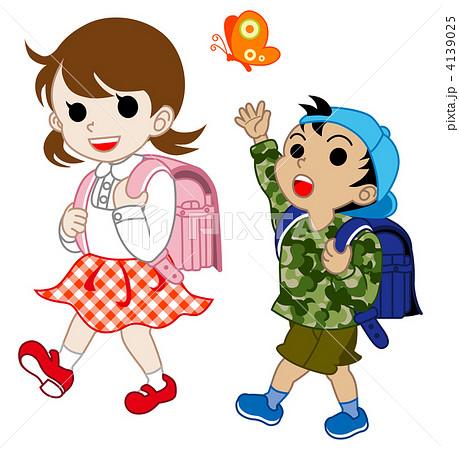 小学生 歩く 4139025  小学生 歩く 画質確認    小学生 歩くのイラスト素材 [41