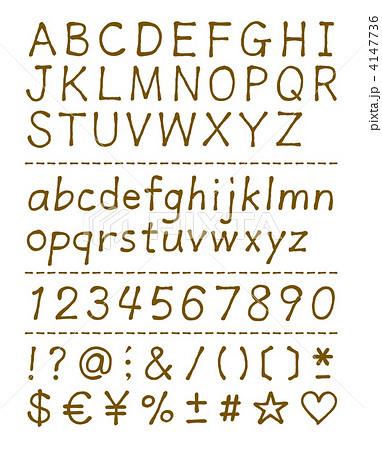 グローバルフォント 古い英語のテキストのフォント : 手書き文字 4147736