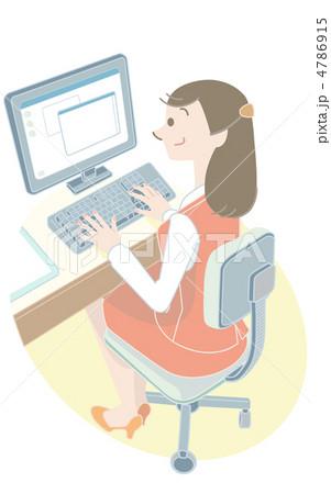 事務作業 4786915  事務作業  サムネイル表示に戻す 画質を確認 事務作業のイラスト素材