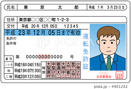 運転免許証-6 4901282 運転免許証-6のイラスト素材 [4901282] - PIXTA