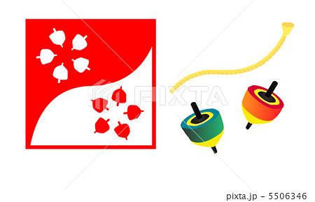 こまのイラスト素材 [5506346 ... : 紙相撲 イラスト : イラスト