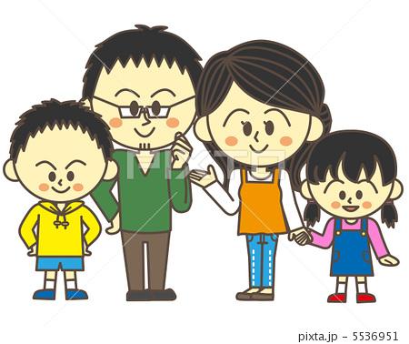 家庭头像4人卡通
