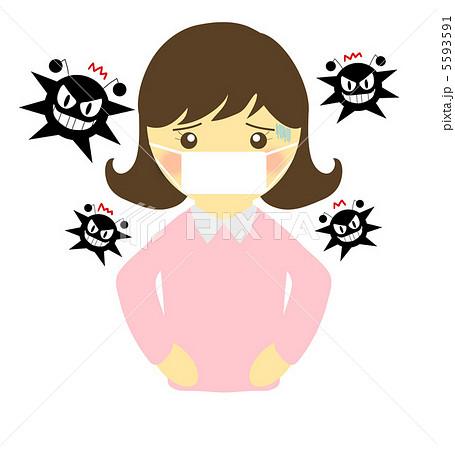 ウイルスと女の子 感染 5593591 ウイルスと女の子 感染のイラスト素材 [5593591]