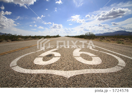 ルート66 ルート66 ルート66   ルート66の写真・イラスト素材