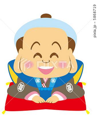 笑顔の福助さん 5868719 笑顔の福助さんのイラスト素材 [5868719] - PIXTA