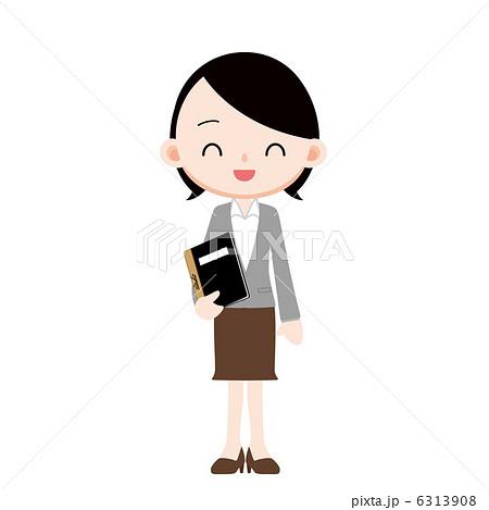 出席簿を持つ女性教諭 6313908 出席簿を持つ女性教諭のイラスト素材 [6313908] -