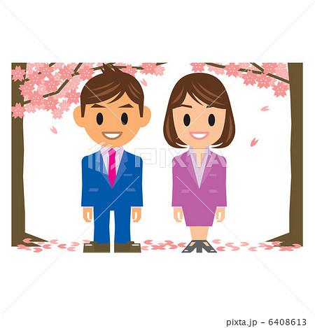 入社式 桜 6408613  入社式 桜  サムネイル表示に戻す 画質を確認 入社式 桜のイラス