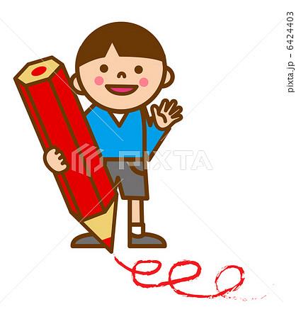 子供と赤鉛筆 書く 6424403  子供と赤鉛筆 書く 画質確認    子供と赤鉛筆 書くのイ