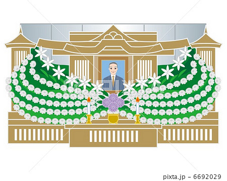 葬儀仏式祭壇 6692029 葬儀仏式祭壇のイラスト素材 [6692029] - PIXTA 画
