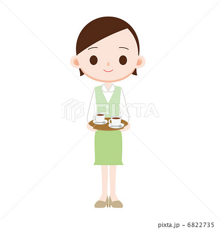 コーヒーを運ぶOL 6822735  コーヒーを運ぶOL  サムネイル表示に戻す 画質を確認 コ