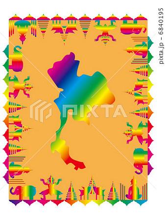 虹色のタイ王国 虹色のタイ王国 タイ王国   タイ王国のイラスト素材