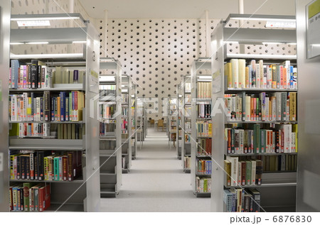 图书馆 阅览室 图书室-图片素材 [6876830] - pixta