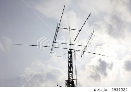 アマチュア無線のアンテナ アマチュア無線のアンテナ アンテナ   アマチュア無線の写真・イラスト