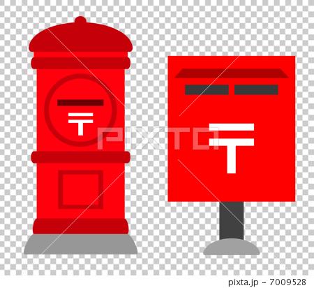 图库插图: 圆形邮箱 邮筒 炮筒式邮箱