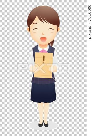 插图素材: 接待台职员的例证