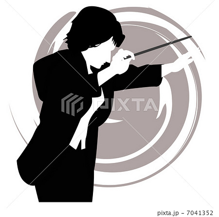 指揮者・モノクロ 7041352 指揮者・モノクロのイラスト素材 [7041352] - PIX