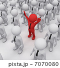 3D man in a crowd