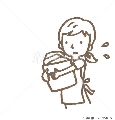 忙しい主婦 7145615  忙しい主婦  サムネイル表示に戻す 画質を確認 忙しい主婦のイラス