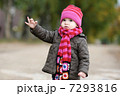 Adorable toddler in an autumn park